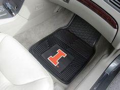 University of Illinois 2-pc Vinyl Car Mat Set