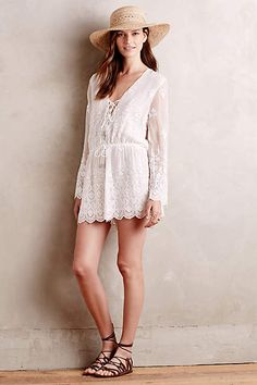 Lucia Embroidered Silk Romper by Zimmermann