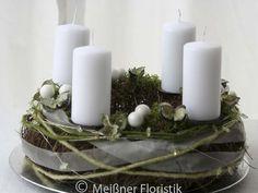 """Kränze - Adventskranz """"grüner Advent 2"""" - ein Designerstück von Meissner-Floristik bei DaWanda"""