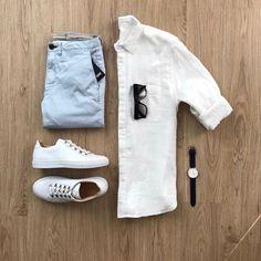 Men's outfit grid - taylor stitch oxford jack button down