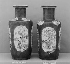 florero | China | dinastía Qing (1644-1911), periodo Kangxi (1662-1722) | el Met