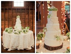 Green White Wedding Cake