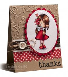 Thanks | handmade card | Jen Shults  love the color combo
