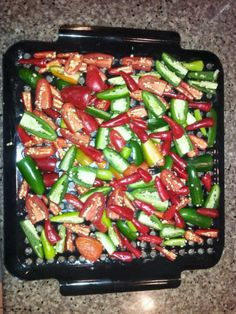 Hot peppers will smoke for hours. Then into the grinder. Great on breakfast burritos .