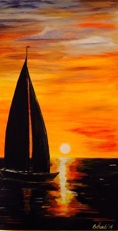 My sailboat Sailing into the sunset