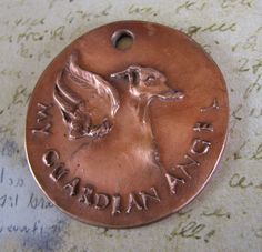 Whippet or Greyhound My Guardian Angel collar tag by petfancy, $20.00