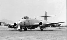 Gloster Meteor equipped with rockets in Korea, 1951.