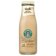 Starbucks Coffee Vanilla Frappuccino Coffee Drink 13.7-oz. ($12) ❤ liked on Polyvore featuring food, drinks, fillers, food and drink and starbucks