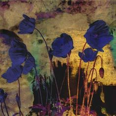 Artwork by Odilon Redon - Blue Poppies, Art Floral, Art Du Collage, Blog Art, Odilon Redon, Blue Poppy, Illustration Art, Illustrations, Photocollage, Art Abstrait
