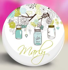 Personalized Bridesmaid Gift  Pocket Mirror  by SpotlightMirrors, $4.50