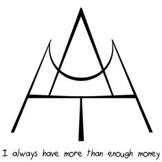 """starcaptain said: Could you do a sigil for """"I always have more than enough money""""? Answer: """"I always have more than enough money"""" sigil Wiccan Symbols, Magic Symbols, Symbols And Meanings, Viking Symbols, Egyptian Symbols, Viking Runes, Ancient Symbols, Larp, Chakra Symbole"""