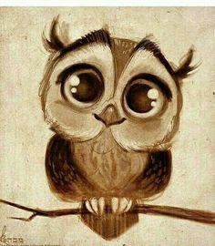 Cuteee owl drawing