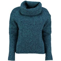 Blue marl virgin wool roll neck jumper by lowie ($229) ❤ liked on Polyvore featuring tops, sweaters, jumpers sweaters, long sleeve jumper, roll top, marled sweater and long sleeve tops