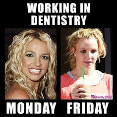 Do people feel this way about working in dentistry? Although it can be stressful - it can be a wonderful fun and healthy profession! Tag for repost Dental Assistant Humor, Dental Hygiene School, Dental Hygienist, Nurse Humor, Dental World, Dental Life, Dental Health, Dental Art, Dentist Meme