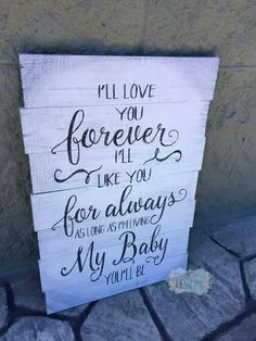 "I'll Love you Forever Pallet Sign approx 17""x30"" - Paisley Grace Designs"