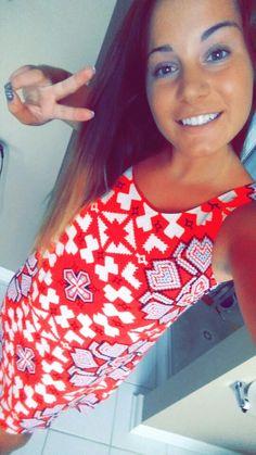 Tribal geometric patterned dress #dress #summerstyle