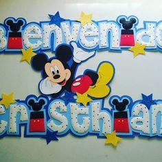 #foami #gomaeva #nombres #habitacion #infantiles #niños #boys #deco #decoracion #mickey #mickeymouse #disney