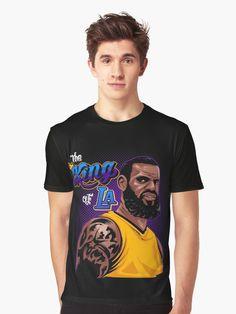 LeBron James The King Of LA Graphic T-Shirt Lebron James 26f93304d