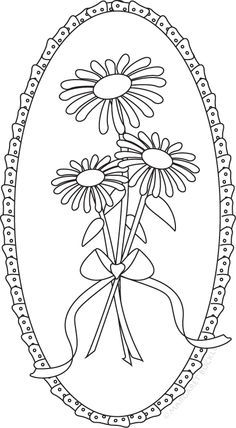 Flower digi and coloring pages