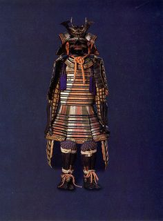 Japan - Suit of Armor, Nimaido Gosoku Style    SUIT OF ARMOR, NIMAIDO GOSOKU STYLE  Ca. 18th century  Metal, lacquer, leather, silk