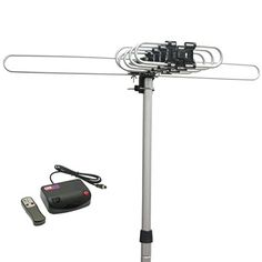 InstallerParts Snap On Amplified Outdoor HDTV Antenna - 150 Miles Long Range - Motorized 360 Degree Rotation - Wireless Remote Control Best Outdoor Tv Antenna, Lean To Shed, Outdoor Power Equipment, Indoor Outdoor, Remote, Electronics, News Channels, Model, Top