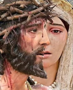 Just imagine our Heavenly Mother as She watched Her beloved Son Jesus suffer & Die. Blessed Mother Mary, Blessed Virgin Mary, Catholic Art, Religious Art, Tattoo Maria, Jesus Our Savior, Pictures Of Jesus Christ, Jesus Painting, Mama Mary