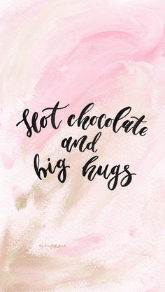 St. Valentine's Day Free iPhone Watercolor Wallpaper // Hot chocolate and big hugs #wallpaper #iphonewallpaper #freedownloads #saintvalentinesday #love