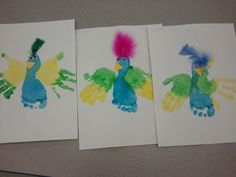 Our cute parrots we made for our zoo unit