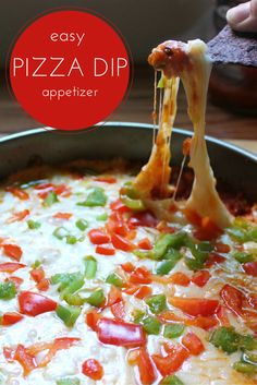 love this easy pizza dip I made it using pasta sauce. I always have ...