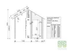 SAUNA - 14,89m2 Line Chart, Beams