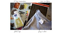 Make your own vintage graphic tees for under $5 with dye and iron on letters