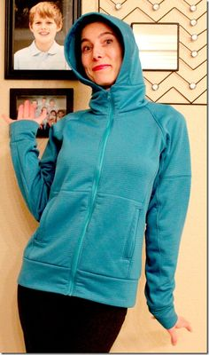 Jalie 2975 - Favorite Hoodie Ever! Pdf Sewing Patterns, Sewing Ideas, Couture Sewing, Jacket Pattern, Softshell, French Terry, Lounge Wear, Hooded Jacket, Knit Crochet