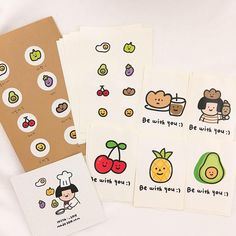 Korean Stationery, Cute Stationery, Stationary, Pen Pal Letters, Journal Stickers, Aesthetic Stickers, Cute Stickers, Aesthetic Art, Sticker Design
