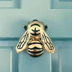 Genial Bumblebee Door Knocker By Michael Healy Brass