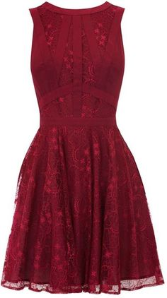 Red, lacy and cute. :)