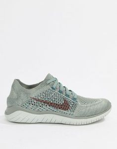 new styles 79b42 f873d Nike Running - Free Run Flyknit - Baskets - Gris et rose