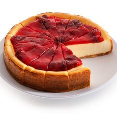 New York Strawberry Topped Cheesecake