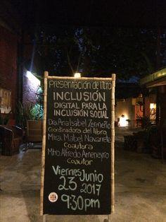 """Ya es jueves y en QuisQueya eco-arte-café abrimos a las 9 pm. Mañana a las 9:30 pm, recuerden que están convidados a la presentación del libro """"Inclusión digital para la inclusión social"""". ¡Muy bienvenidos serán!"""
