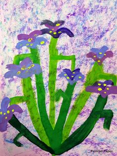 PAINTED PAPER: Irises by Monet