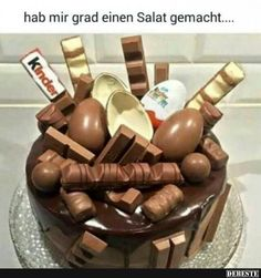 Schichtkuchen aux Kinder Bueno – Cooking Cath – – … - My CMS Easy Cake Recipes, Cookie Recipes, Cute Birthday Cakes, New Cake, Food Cravings, Amazing Cakes, Cake Decorating, Yummy Food, Snacks