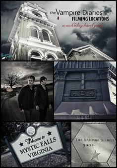The Vampire Diaries filming locations in Covington, Georgia AKA Mystic Falls. The Mystic Grill, the Courthouse, the Lockwood Mansion and more. Vampire Stalkers fan day.