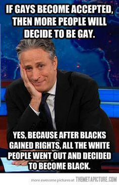 Jon Stewart on gay people…