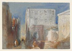 Venice, The Rio di San Luca, with the Palazzo Grimani and the Church of San Luca, 1840. Joseph Mallord William Turner.