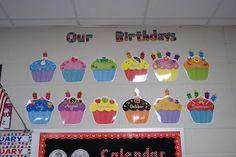 Imprimer 12 cup cakes... plastifier  Puis mettre noms des élèves!  Nos fêtes!