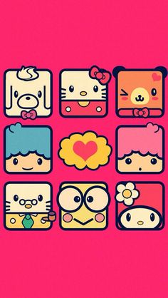 Wallpaper Sanrio Wallpaper, Hello Kitty Wallpaper, Kawaii Wallpaper, Colorful Wallpaper, Hello Kitty Pictures, Kitty Images, Sanrio Characters, Cute Characters, Sanrio Danshi