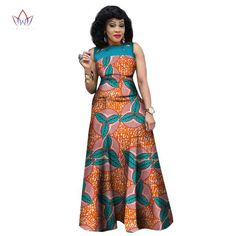 African Dresses for Women, African Print Clothing, Ankara Long Dress Plus Size - Owame Source by African Dresses For Women, African Attire, African Fashion Dresses, African Wear, African Outfits, African Style, African American Fashion, African Print Fashion, Africa Fashion
