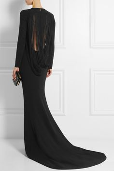 Stella McCartney | Fringed stretch-crepe gown