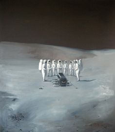 Michael Gatarek, The Funeral on the Moon. I want this on my wall.