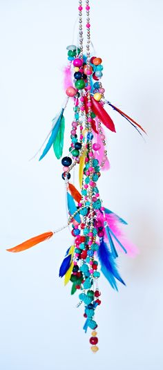 Bead + Feather Garland