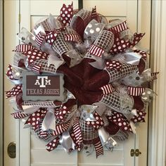 Texas A&M Mesh wreath